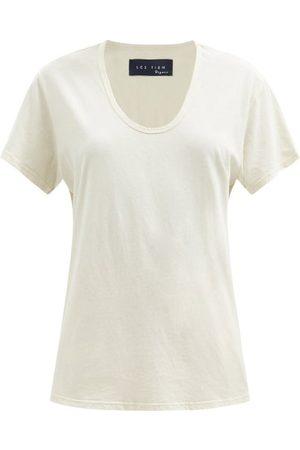 Les Tien Scoop-neck Cotton-jersey T-shirt