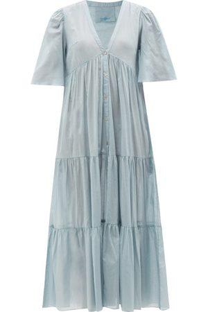 Loup Charmant Symi Buttoned Cotton-voile Dress