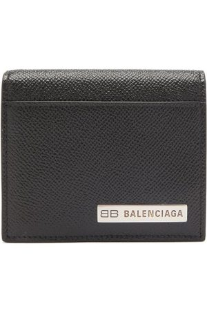 Balenciaga Bb-plaque Grained-leather Bifold Wallet