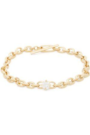 Lizzie Mandler Knife Edge Diamond & 18kt Chain Bracelet