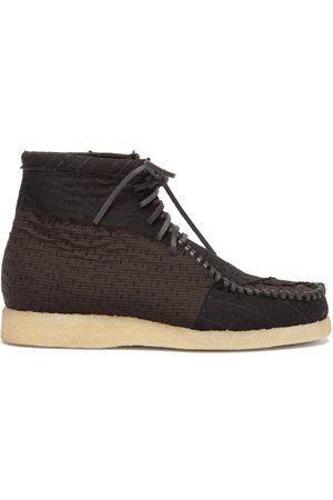 By Walid Anka Patchwork-wool Desert Boots