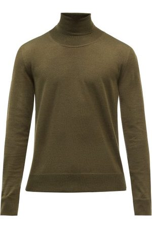 The Row Emile Back-stripe Roll-neck Sweater