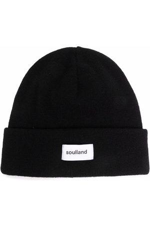 Soulland Hüte - Villy Beanie mit Logo-Patch