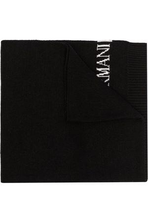 Emporio Armani Intarsien-Schal mit Logo