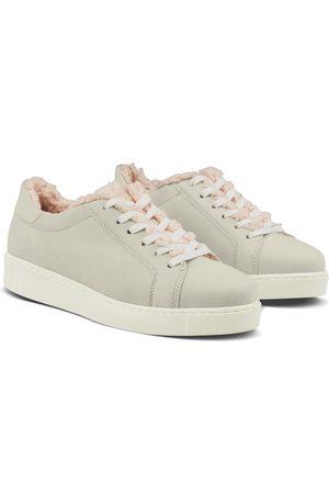 LaShoe Damen Sneakers - Sneaker Retro mit Curly Fleece Hellgrau 36