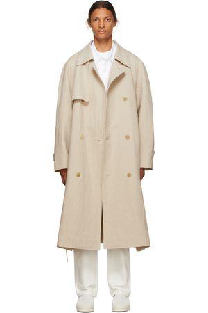 The Row Beige Linen Omar Trench Coat