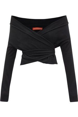 Altuzarra Crawley Off-the-shoulder Wrap Sweater