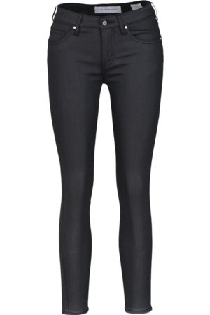 YOUNG POETS SOCIETY Damen Cropped - Damen Jeans Ania low waist 86214 coated (black coated)