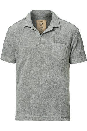Oas Herren Poloshirts - Short Sleeve Terry Polo Grey Melange