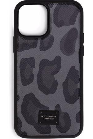 Dolce & Gabbana IPhone 12-Hülle mit Leoparden-Print