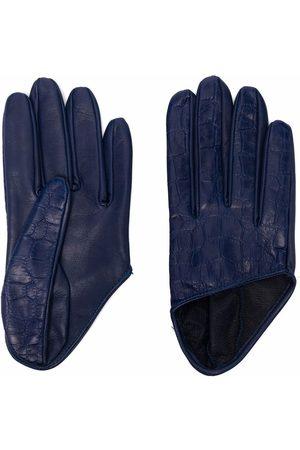 Manokhi Damen Handschuhe - Handschuhe mit Kroko-Effekt