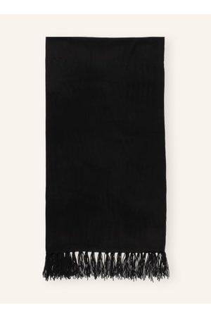 darling harbour Damen Schals - Glattstrick. Fransen an den Enden. Softe Haptik. Wolle-Cashmere-Mix. - 180 x 60 cm (L x B)
