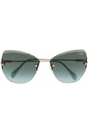 Cazal Rahmenlose Cat-Eye-Sonnenbrille