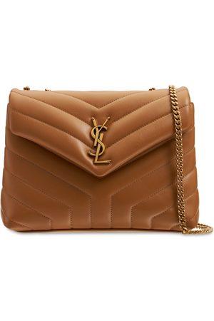 SAINT LAURENT Small Loulou Monogram Leather Bag