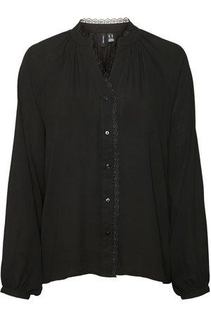 VERO MODA V-ausschnitt Bluse Damen
