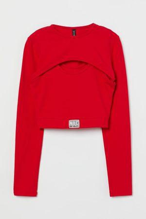 H & M Zweigeteiltes Kurzshirt