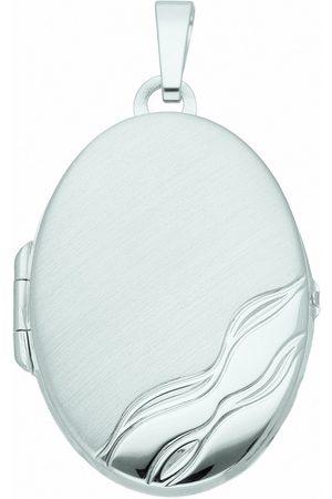 Adelia's Kette mit Anhänger »925 Medaillon Anhänger - Set mit Halskette«, 925 Sterling Silberschmuck für Damen