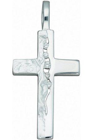 Adelia's Kette mit Anhänger »925 Kreuz Anhänger mit Zirkonia - Set mit Halskette«, 925 Sterling Silberschmuck für Damen & Herren