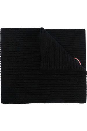 Moncler Gestrickter Schal mit Logo-Patch