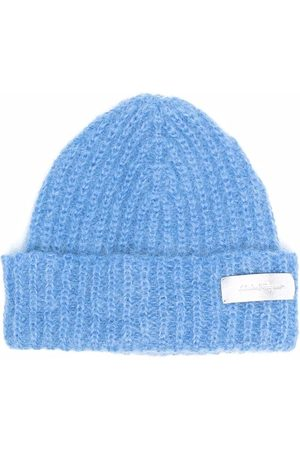 Salvatore Ferragamo Damen Hüte - Strickmütze mit Logo-Patch