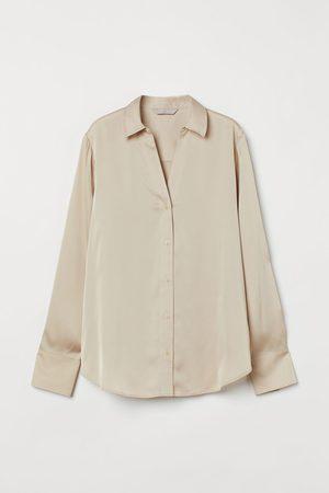 H&M Bluse mit V-Ausschnitt