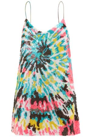 ASHISH Tie Dye-sequinned Georgette Mini Dress
