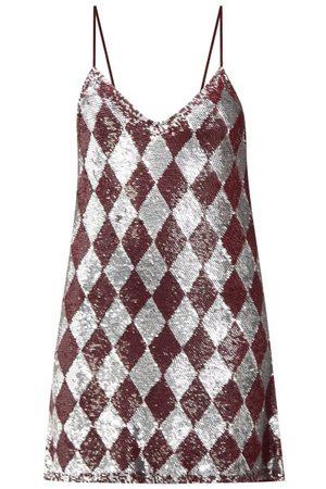 ASHISH Sequinned Harlequin Georgette Mini Dress