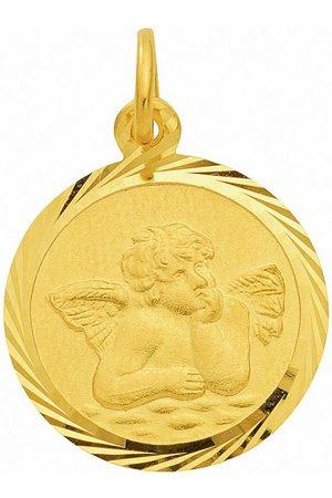 Adelia's Kette mit Anhänger »585 Gold Anhänger Amor Ø 12 mm - Set mit Halskette«, 585 Gold Goldschmuck für Damen