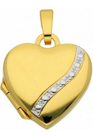 Adelia's Kette mit Anhänger »333 Gold Medaillon Anhänger - Set mit Halskette«, 333 Gold Goldschmuck für Damen