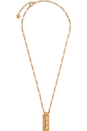 Versace Gold Logo Pendant Necklace