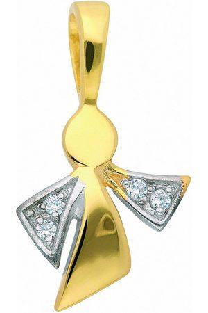 Adelia's Kette mit Anhänger »333 Gold Anhänger Engel mit Zirkonia - Set mit Halskette«, 333 Gold Goldschmuck für Damen