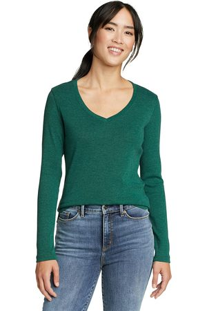 Eddie Bauer Favorite Shirt - Langarm mit V-Ausschnitt Damen Gr. L