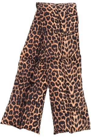 Saint Laurent Herren Schals - Schal mit Leoparden-Print