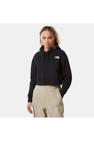 The North Face Trend Kurzgeschnittener Fleece Hoodie Für Damen Tnf Black Größe L Damen