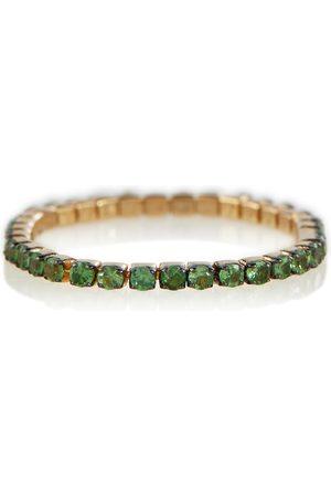 SHAY Jewelry Ring Thread aus 18kt Gelbgold mit Granaten