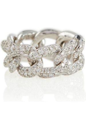 Shay Ring Essential aus 18kt Weißold mit Diamanten