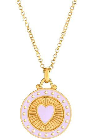 Elli Halskette Herz Symbol Anhänger Emaille 925 Sterling Silber in , Schmuck für Damen