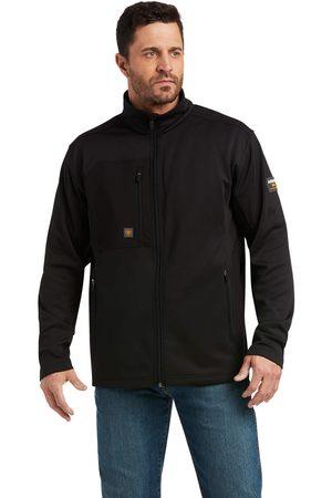 Ariat Men's Rebar Dri-Tech DuraStretch Fleece Hybrid Jacket Long Sleeve in Blackcore