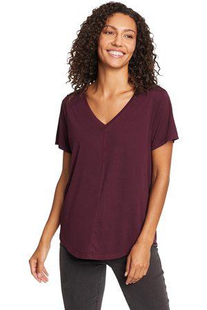 Eddie Bauer Ophelia T-Shirt - V-Ausschnitt Damen Gr. XS