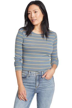 Eddie Bauer Favorite Shirt - Langarm mit Rundhalsausschnitt - geringelt Damen Gr. L