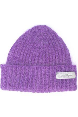 Salvatore Ferragamo Damen Hüte - Mütze mit Logo-Patch