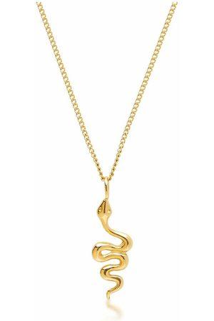 Nialaya Gold Necklace with Mini Snake Pendant , Damen, Größe: 19