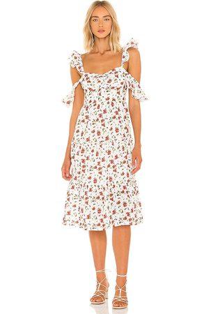 MAJORELLE Angel Midi Dress in . Size M, S, XL, XS, XXS.