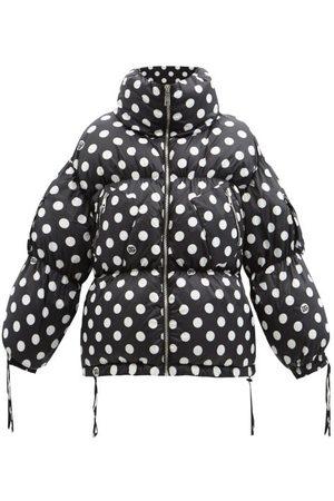 Dolce & Gabbana High-neck Polka-dot Satin Down Jacket
