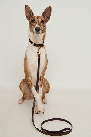 NA-KD Damen Hüte - Basic Leather Dog Leash - Brown