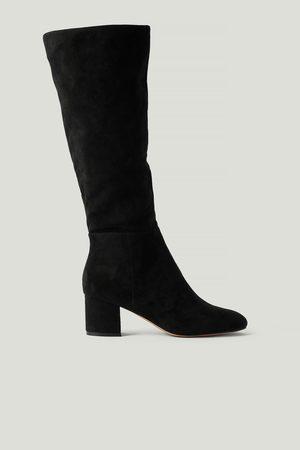 NA-KD Kniehohe Stiefel - Black