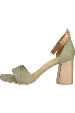 Sansibar Sandalen in mittelgrün, Sandalen für Damen