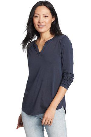 Eddie Bauer Damen Longsleeves - Ophelia Langarmshirt mit Y-Ausschnitt Damen Gr. XS