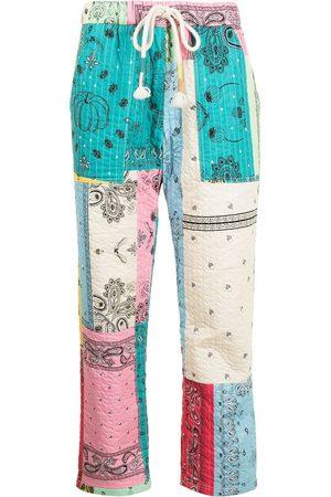 MIRA MIKATI Gesteppte Hose mit Bandana-Print