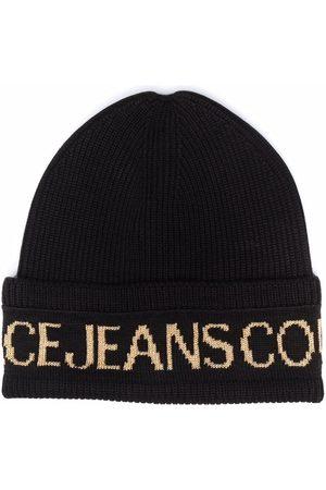 Versace Jeans Couture Intarsien-Mütze mit Logo